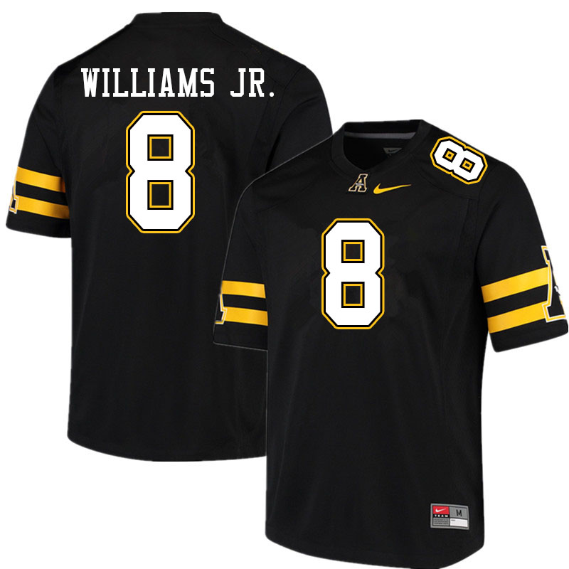 Men #8 Marcus Williams Jr. Appalachian State Mountaineers College Football Jerseys Sale-Black