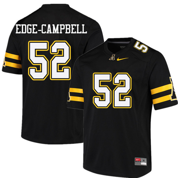 Men #52 Tobias Edge-Campbell Appalachian State Mountaineers College Football Jerseys Sale-Black