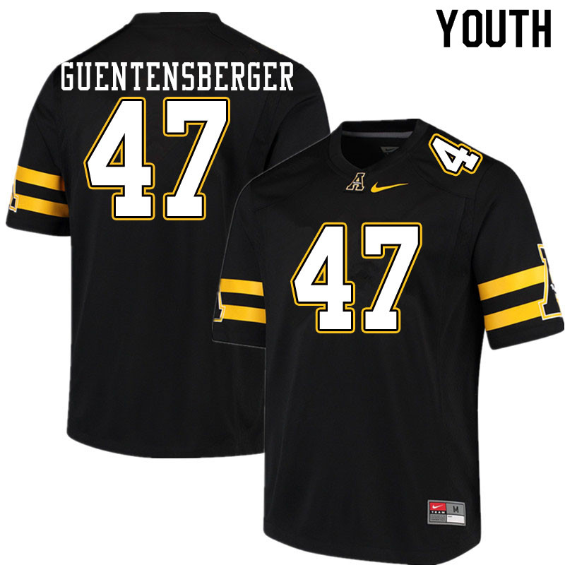 Youth #47 Colin Guentensberger Appalachian State Mountaineers College Football Jerseys Sale-Black
