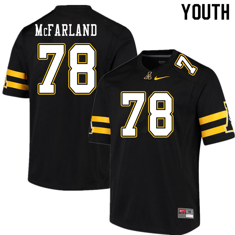 Youth #78 Craig McFarland Appalachian State Mountaineers College Football Jerseys Sale-Black
