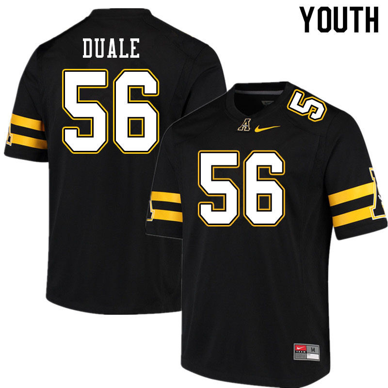 Youth #56 Guled Duale Appalachian State Mountaineers College Football Jerseys Sale-Black